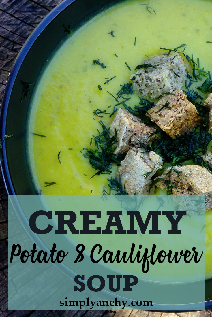 Creamy Potato and Cauliflower Soup is full of nutrients. It is satisfying and keeps you full for a long time. Try the recipe and see for yourself. | Healthy Food Recipes | simplyanchy.com