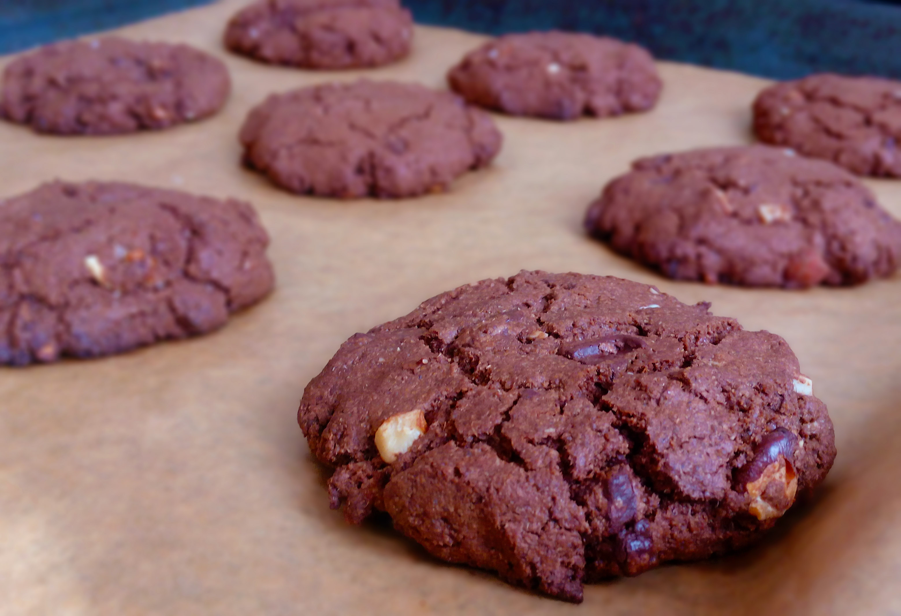 Double Chocolate and Almonds Cookies | Gluten-Free