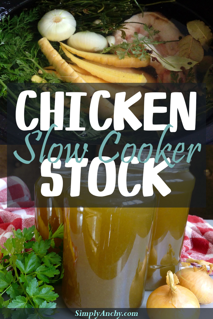 I have always hesitated when it comes to making homemade chicken stock, until I figured out this recipe! Since then I make my own chicken stock, which is more flavorful and tasty than any store-bought! You should try it out! | Healthy Food Recipes | simplyanchy.com