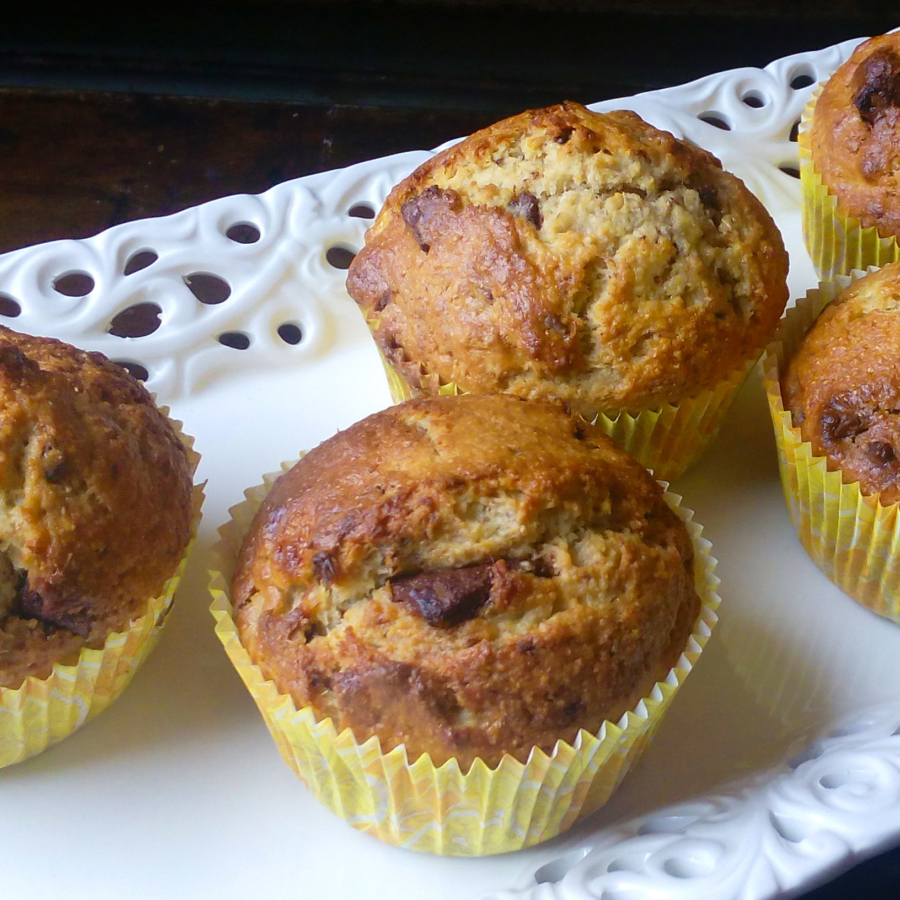 These Banana and Chocolate Chip Muffins are so easy to make, and are PERFECT for breakfast, snack or dessert! Try this recipe for Banana Bread Muffins! You will never need another recipe again! | Healthy Food Recipes | simplyanchy.com