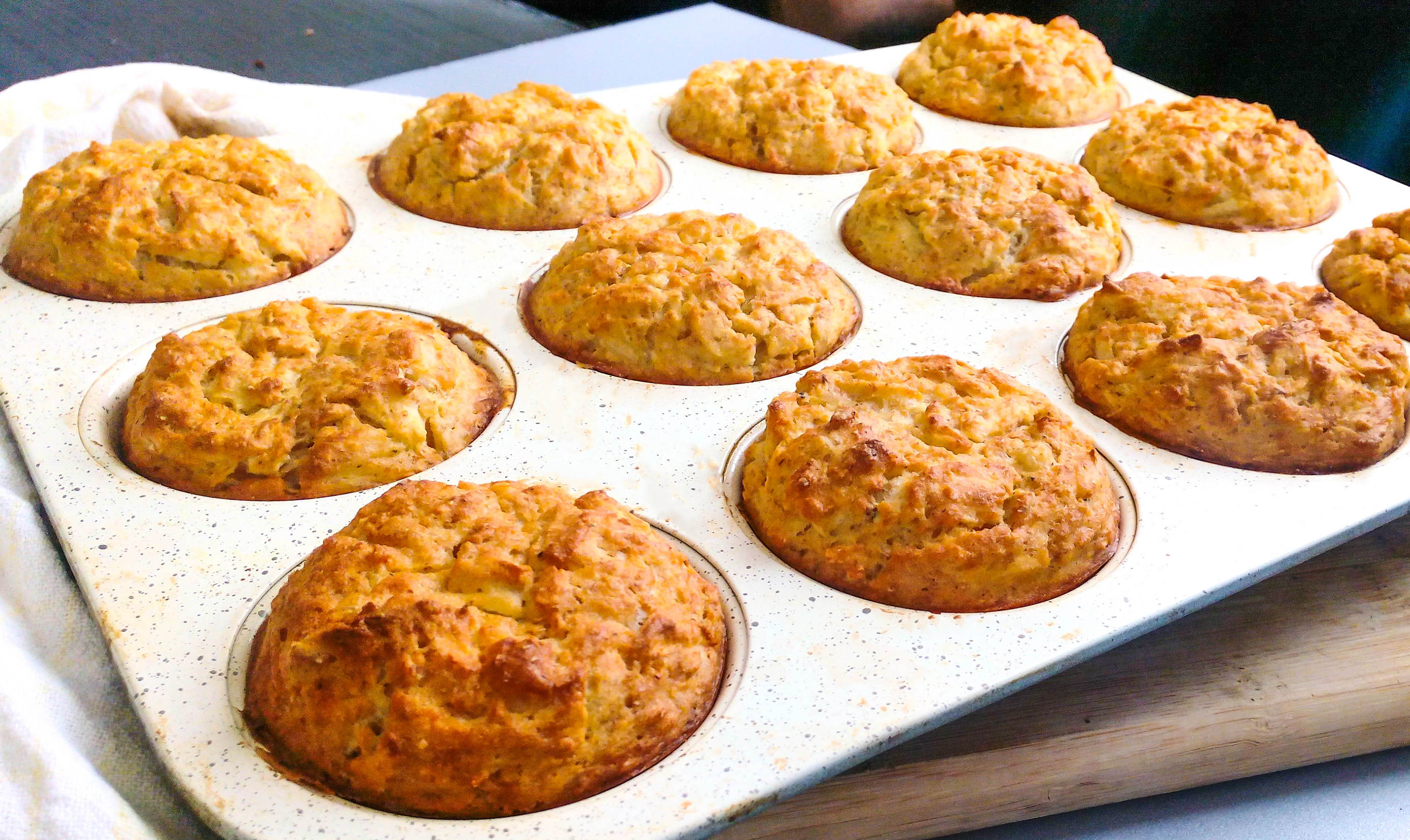 Zucchini Savory Muffins | Perfect Breakfast On-The-Go