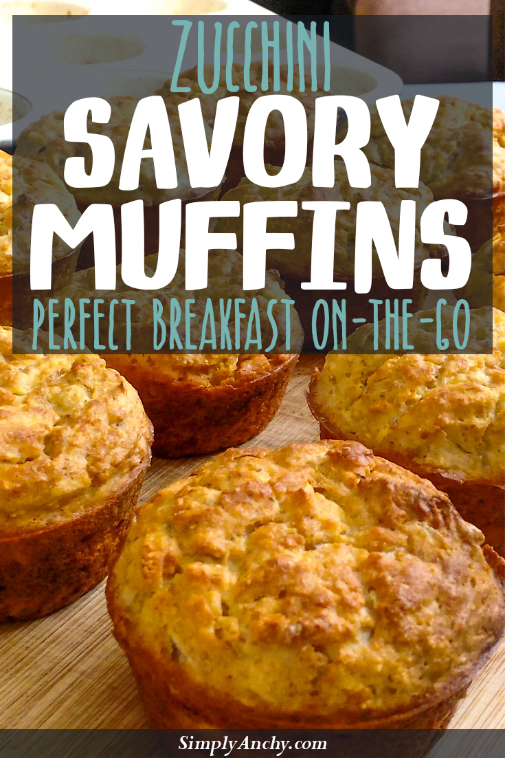 Lately, I have been skipping breakfast because I don't have enough time in the morning. These savory muffins changed everything. I just pop them in the microwave and have them on-the-go! You should TRY THEM too! | Healthy Food Recipes | simplyanchy.com