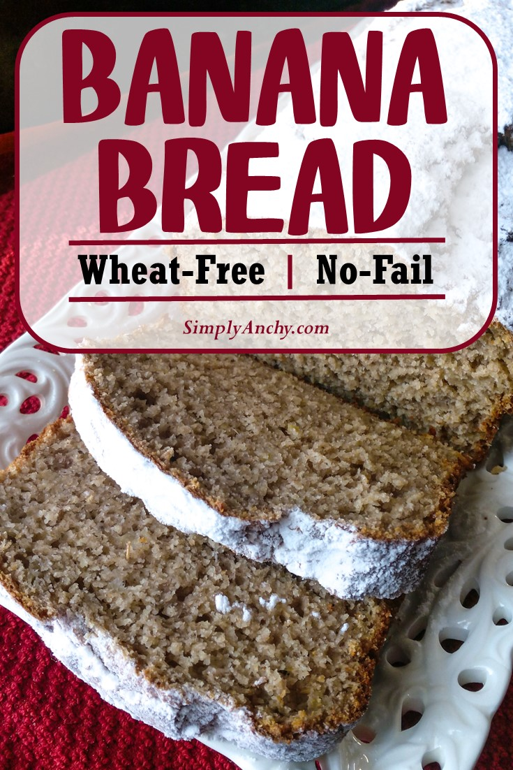 Can you imagine of making a Banana Bread that is actually good for your health? Well this recipe is No-Fail and Guilt-Free! You will love it! | #bananabread #wheatfree #nofailrecipe | simplyanchy.com