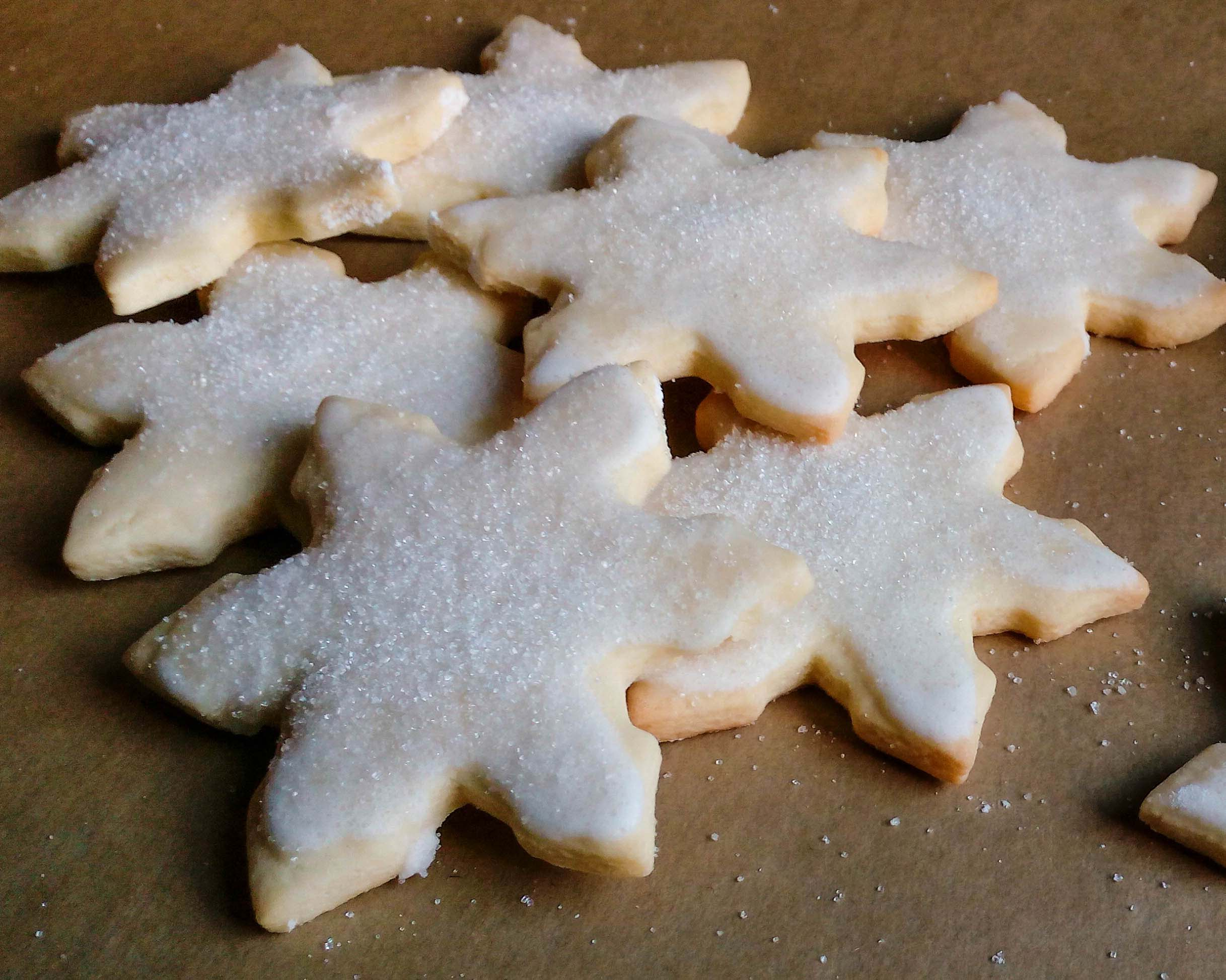 Frosted Snowflake Sugar Cookies with Lemon Icing