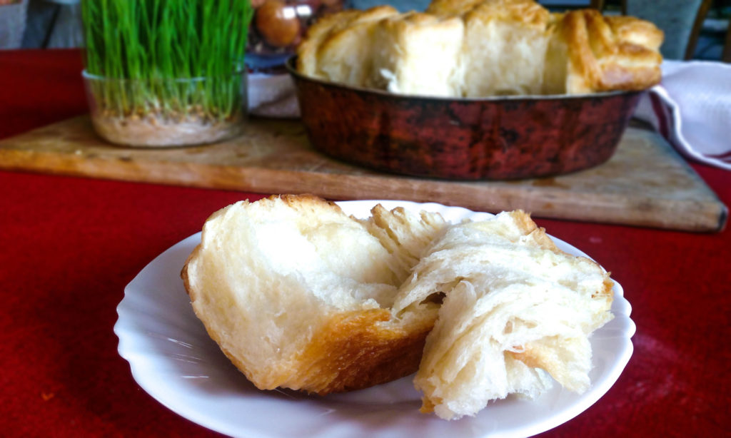 Do you have that one special recipe that you make only on special occasions? This recipe for buttery flaky bread rolls is the one for me. It is a bit time consuming but if you make it only a few times a year, it is worth it every minute. This recipe for bread rolls is a MUST TRY! | #easter #christmas #breadrolls #bunrolls #specialoccasionrecipe | simplyanchy.com