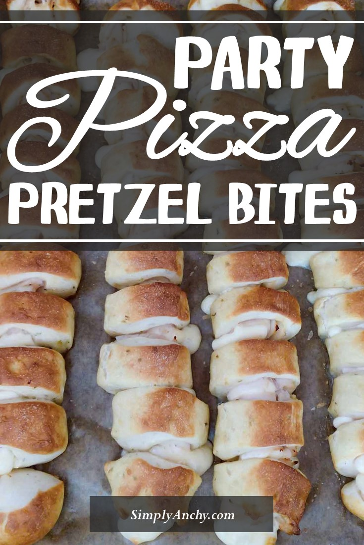 If you like pizza and pretzels, then you will LOVE the combination of these two. Soft and delicious pizza pretzel bites are perfect for any party, movie or game night.   #pizzabites #pretzelbites #partyfood #partyrecipe   simplyanchy.com