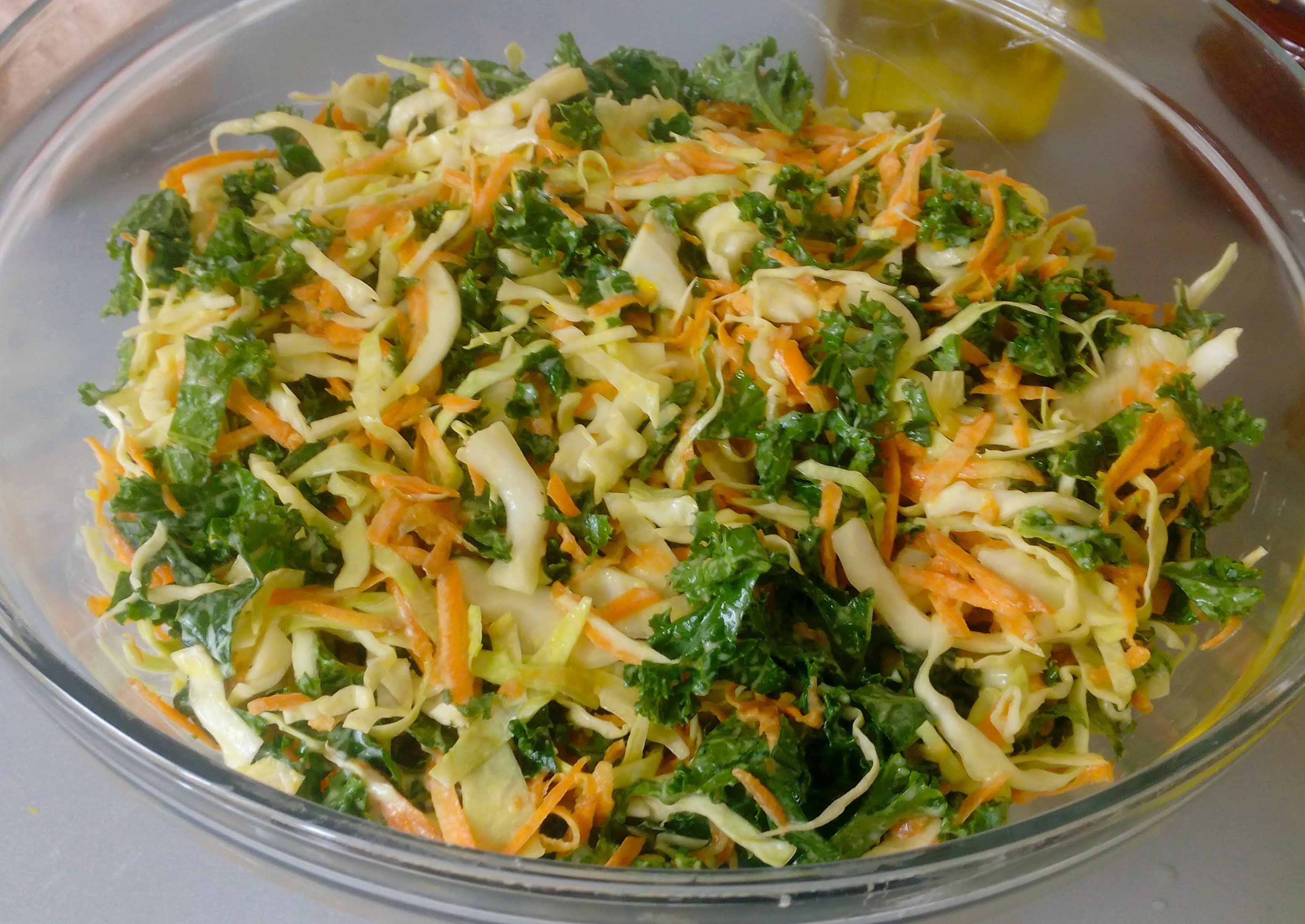 Cabbage Kale Slaw | Light And Refreshing