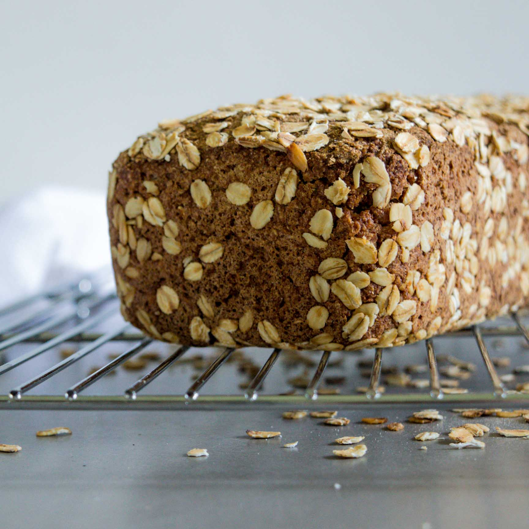 rye flour bread on a cooling rack