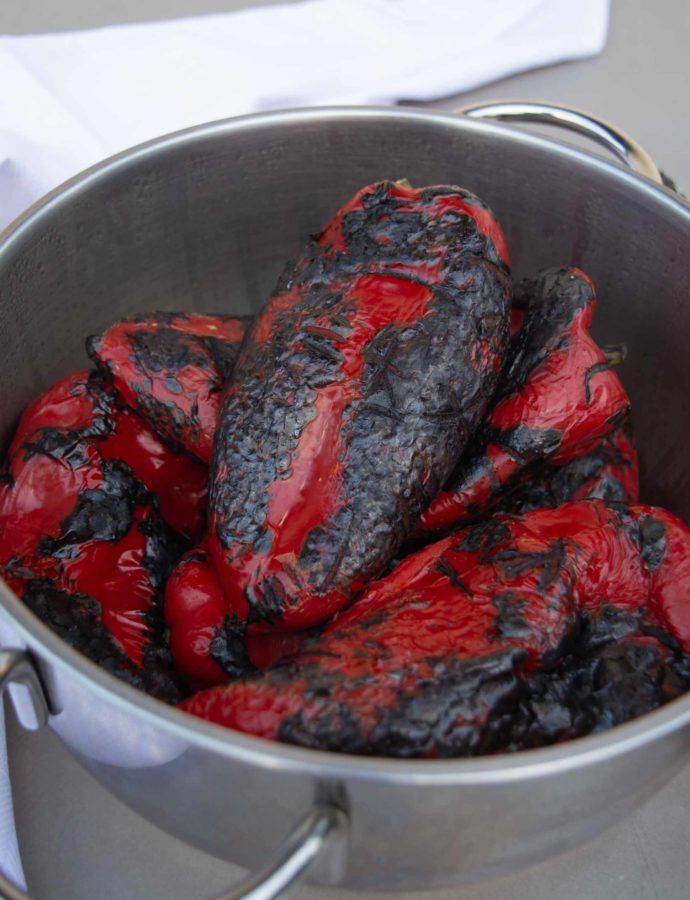 Open Flame Roasted Sweet Red Peppers