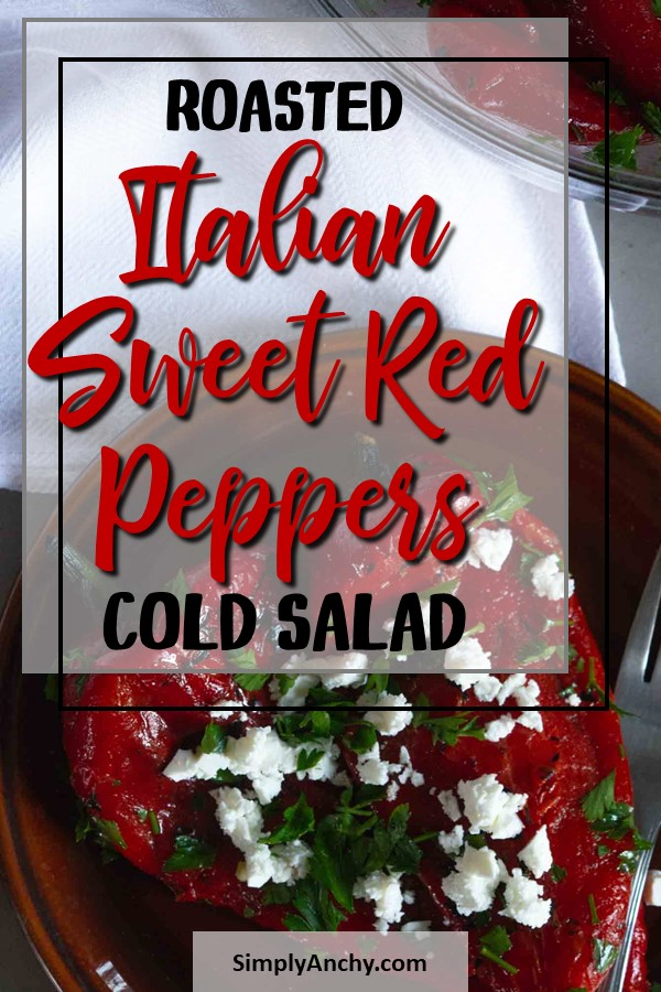 roasted sweet red pepper cold salad